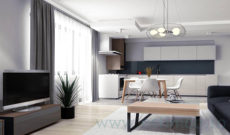 Apartament 3 camere de vanzare Tractorul bloc nou